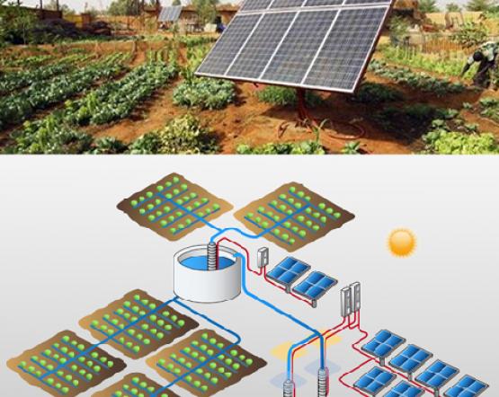 Sistema Riego Paneles Solares